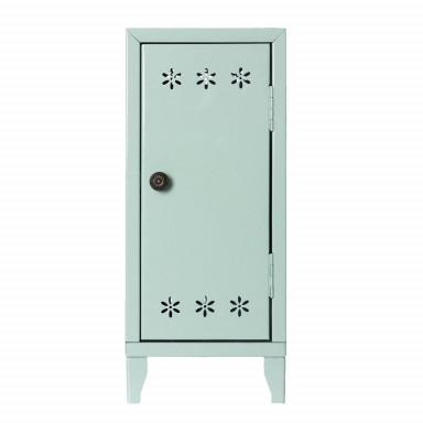 Maileg Puppenhausmöbel Schrank mit drei Kleiderbügeln, grün