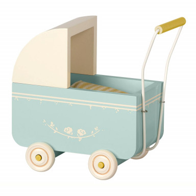 Maileg Kinderwagen, Micro - Blau