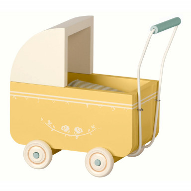 Maileg Kinderwagen, Micro - Gelb