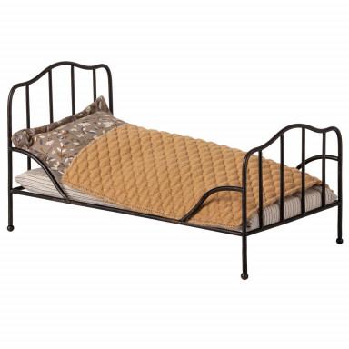 Maileg Vintage Bett, Mini - Anthrazit
