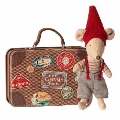 Maileg Weihnachts-Maus im Koffer, Kleiner Bruder