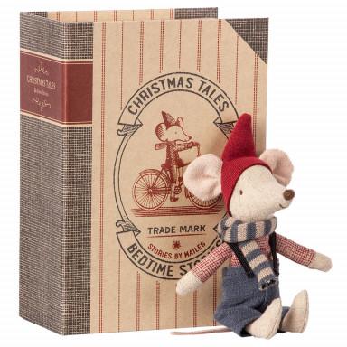 Maileg Weihnachts-Maus im Buch - Großer Bruder
