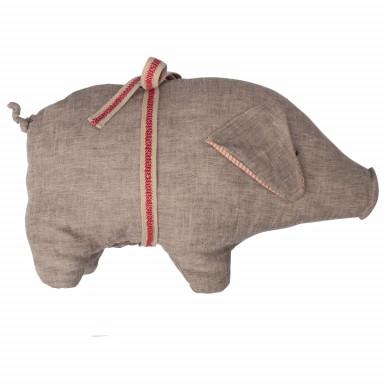 Maileg Schwein, Medium, grau