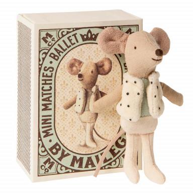 Maileg Tänzer in Streichholzschachtel, Kleiner Bruder Maus