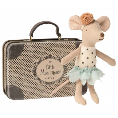 Maileg Kleine Fräulein Maus im Koffer, kleine Schwester