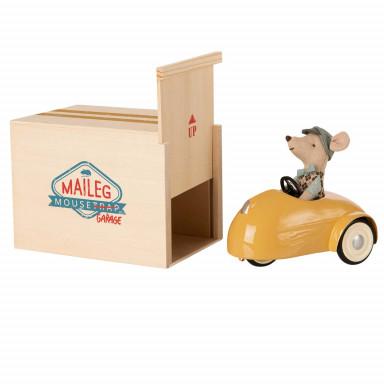 Maileg Mausauto mit Garage - Gelb