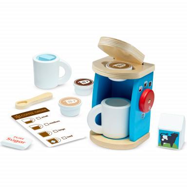Houten Set Voor Het Zetten En Opdienen Van Koffie