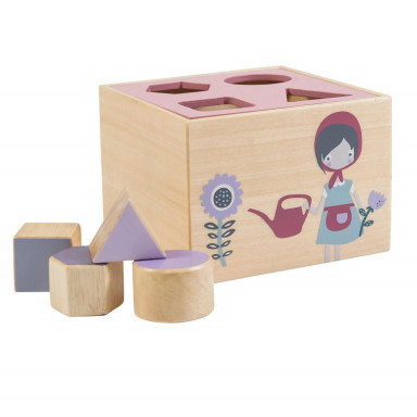 Sebra Formensteckspiel aus Holz, Farm & Mädchen