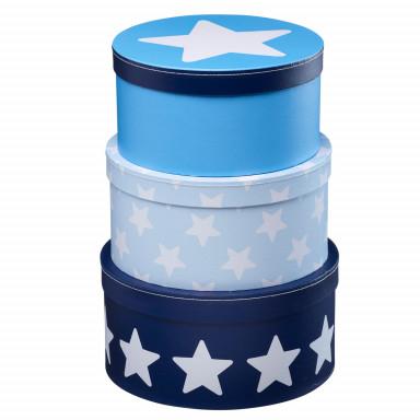 Kids Concept Pappboxen-Set, blau