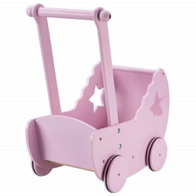 Kids Concept Puppenwagen mit Decke und Matratze rosa