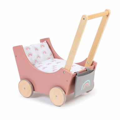 MUSTERKIND Puppenwagen Barlia altrosa/natur