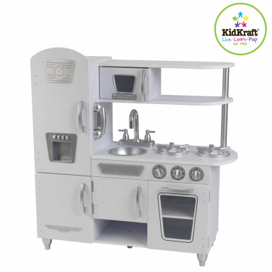 KidKraft Weiße Retro-Küche 53208- AUS RETOURE (2)