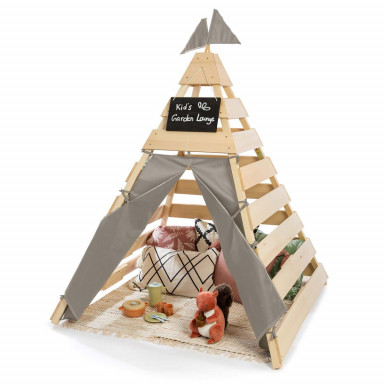 MUDDY BUDDY® Outdoor Tipi Dreamer naturel - gris chaud