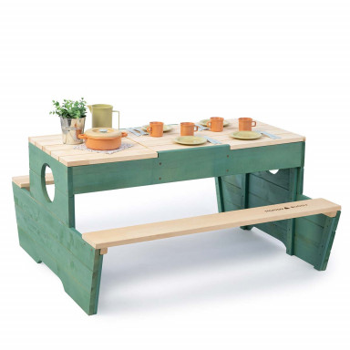 MUDDY BUDDY® Table de jeu Creator naturel - sauge
