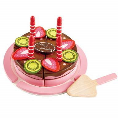 Hape Gâteau d'anniversaire fraise-chocolat - E3140