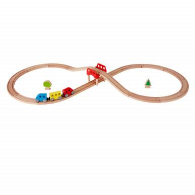 Hape Eisenbahnstrecke mit Achterschleife