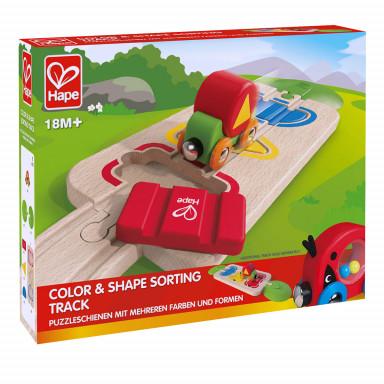 Hape Puzzleschienen mit mehreren Farben und Formen