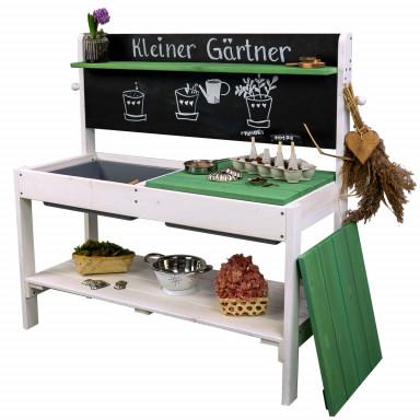 Meppi Matschküche Kleiner Gärtner weiss / grün