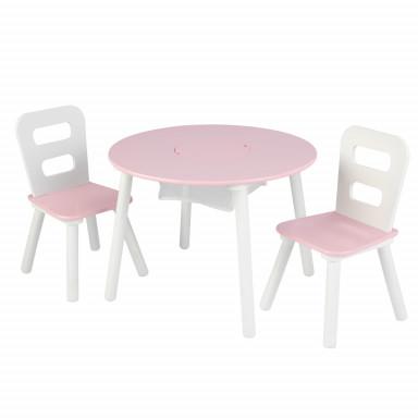 Kidkraft Runder Tisch mit Lagerfach und 2 Stühlen - AUS RETOURE (3)