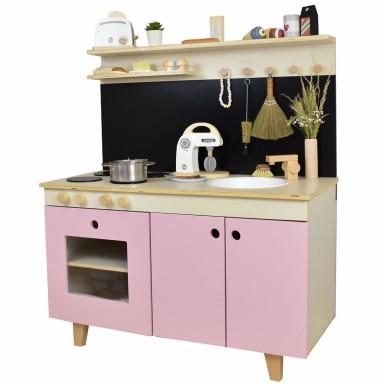 Kuchnia dla dzieci Malmö marki Meppi z litego drewna - różowy