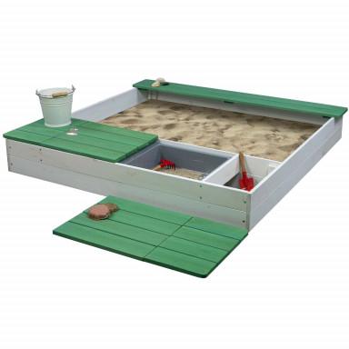 Meppi Sandkasten Laboe weiss / grün