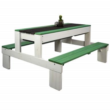 Meppi grupa siedzeń Stralsund biało-zielona