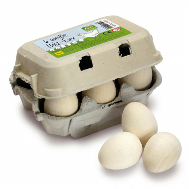 Erzi Eier, weiss im Karton