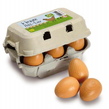 Erzi Eier, braun im Karton