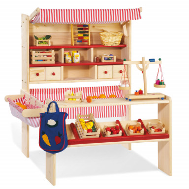 Pinolino Lucy Wooden Play Shop with Awning