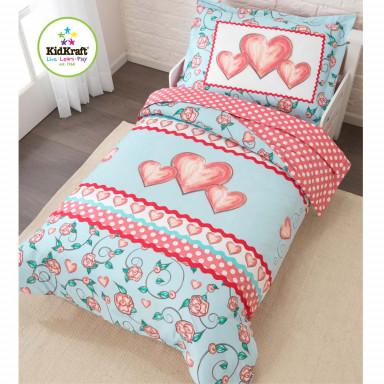 Kidkraft 77004 Biancheria da letto per bambine cuore