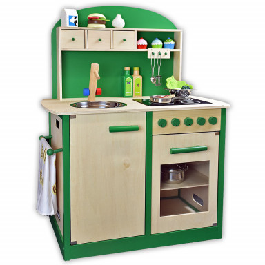 Sun 4123 children's kitchen natural-green