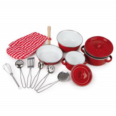 Batteria da cucina rossa