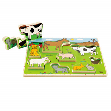 Hape E1450 Puzzle vertical - les animaux de la ferme