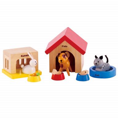 Hape Puppenhausmöbel Haustier-Set