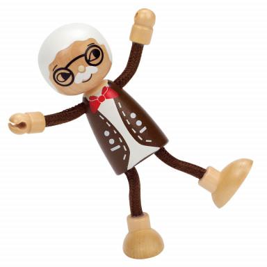 Hape Bambola di legno Nonno E3503