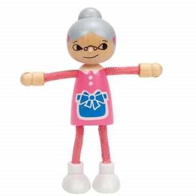 Hape Bambola di legno Nonna E3504