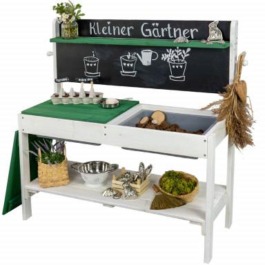 Meppi cucina di fango Piccolo giardiniere bianco / verde