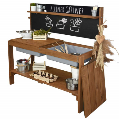 Meppi mud kitchen Little gardener, brown