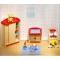 Goki Puppenhausmöbel Kinderzimmer blau