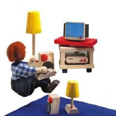 Selecta Puppenhausmöbel Wohnraum-Set