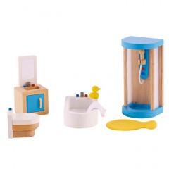 Hape Puppenhausmöbel  Badezimmer