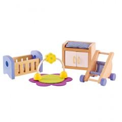 Hape Puppenhausmöbel Babyzimmer