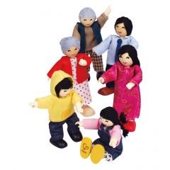 Hape Puppenfamilie - Asiatisch