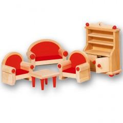 Goki poppenhuismeubeltjes woonkamer