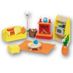 Goki Meble do domku dla lalek — Niebieski salon