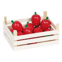 Goki Erdbeeren in Obstkiste