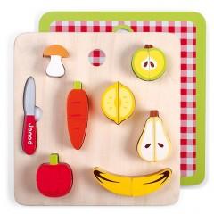 Janod Tablett Gemüse & Früchte