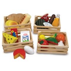 Melissa & Doug 10271 Lebensmittel-Set aus Holz