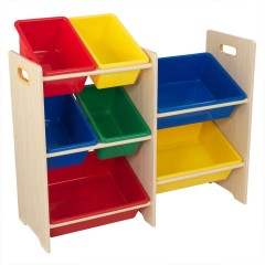 KidKraft 7 Bin Storage Unit Natural