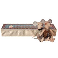 Maileg Mäuse Großeltern OMA & OPA MAUS in Schlafbox mit Bettwäsche